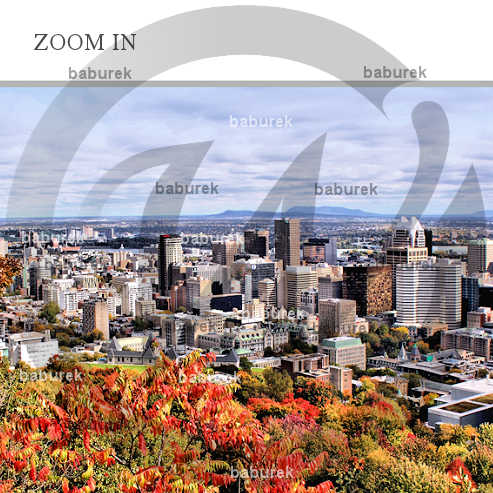 Autumn in Montreal - Detail of Panoramic Photograph